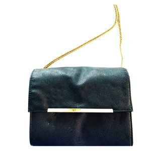 Black and gold crossbody/clutch